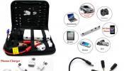 E-POWER multi-function jump starter สามารถใช้จั้มเข้ากับแบตเตอรี่รถยนต์ได้ มีน้ำหนักเบามาพร้อมกระเป๋