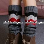 ปลอกสวมเท้ายาวถึงเข่า ปลอกสวมเท้ากันหนาว ปลอกสวมเท้าขนสถุงเท้าเกาหลียาว ถุงเท้ากันหนาวเกาหลีพร้อมส่ง